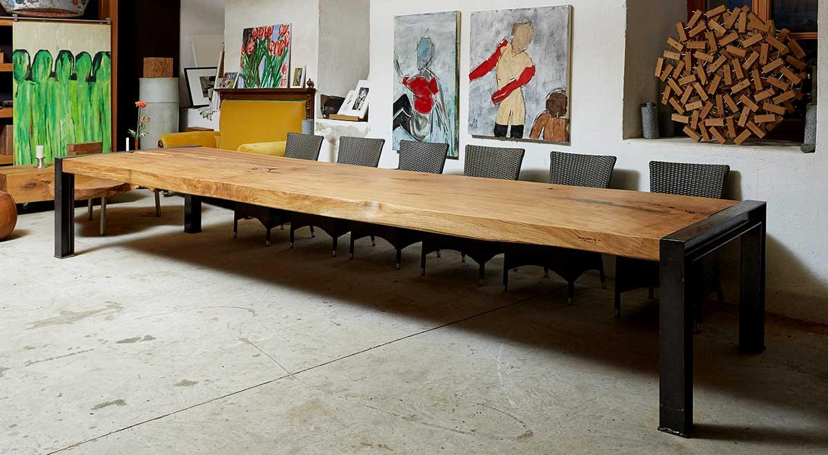 5 Meter Tisch aus Eiche